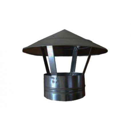 CAPAC TERMINAL SIMPLU PENTRU COS FUM, INOX 120 MM