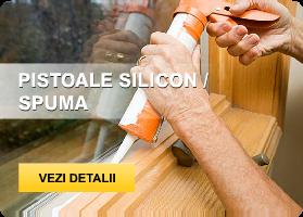 Pistoale silicon, spuma