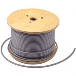 CABLU OTEL PLASTIFIAT 6/ 7.5 MMx 100 M- TAMBUR(C)