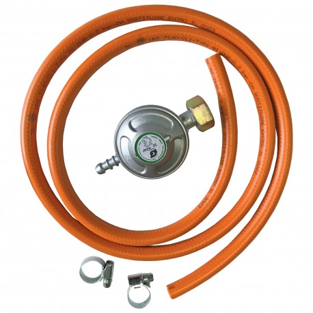 REGULATOR PRESIUNE PT. BUTELII GAZ + FURTUN 1.5 M + 2 COLIERE - KIT