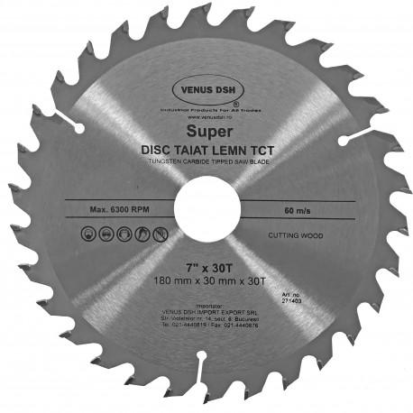 "DISC TAIAT LEMN TCT -  7""-180X30TX30 MM"