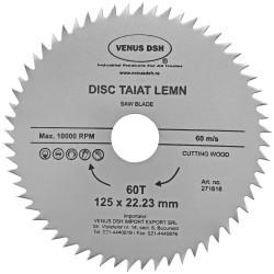 DISC TAIAT LEMN 125 X 22.23 MM - 60 T