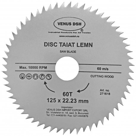 DISC TAIAT LEMN 230 X 22.23 MM - 80 T