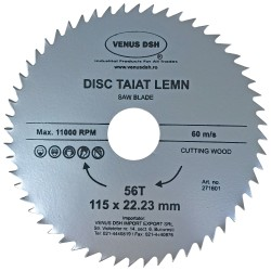 DISC TAIAT LEMN 115 X 22.23 MM - 56 T