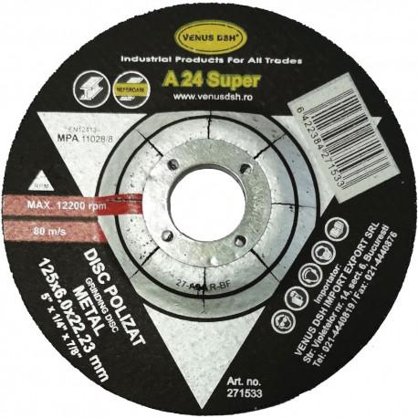 """DISC POLIZAT METAL """"SUPER"""" T27-A24 R-BF - 125X6X 22.23 MM"""