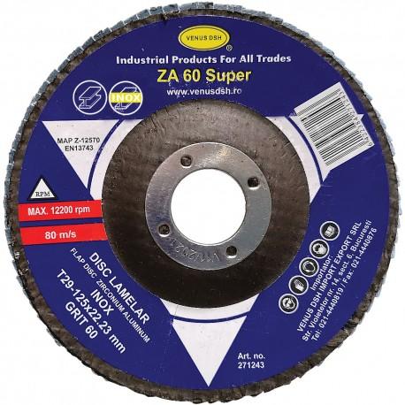 "DISC LAMELAR FRONTAL INOX ""SUPER"" T29 - 125x22.23 MM, GR. 60"