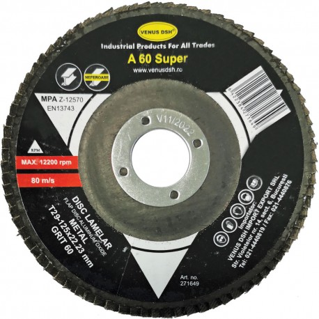 "DISC LAMELAR FRONTAL METAL ""SUPER"" T29 - 125x22.23 MM, GR. 60"