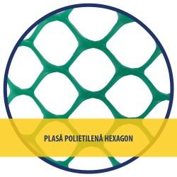PLASA POLIETILENA HEXAGON, VERDE 1.20 x 25 M (IX)