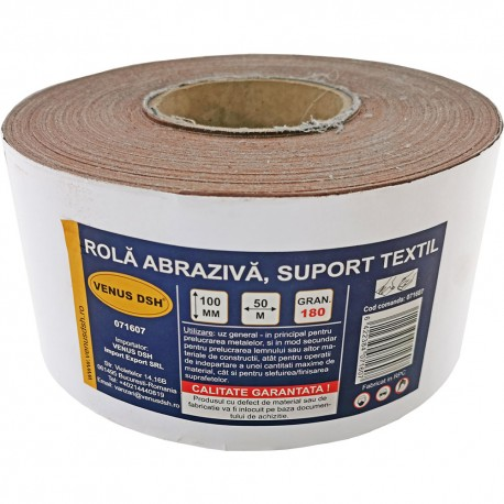 ROLA ABRAZIVA, SUPORT TEXTIL, 180 (100 MM x 50 M)