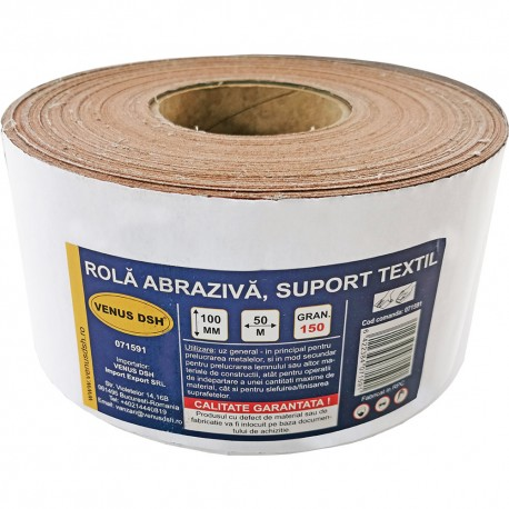 ROLA ABRAZIVA, SUPORT TEXTIL, 150 (100 MM x 50 M)