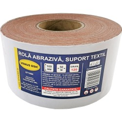 ROLA ABRAZIVA, SUPORT TEXTIL, 120 (100 MM x 50 M)
