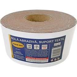ROLA ABRAZIVA, SUPORT TEXTIL, 100 (100 MM x 50 M)