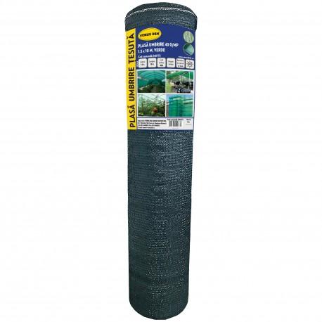 PLASA UMBRIRE 1.5 x 10 M, VERDE, 40 g/mp