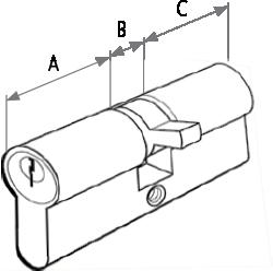 Cilindru siguranta 60 MM (25-10-25)